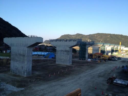 近畿自動車道紀勢線日置川橋P20橋脚工事