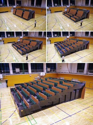 東京医療保健大学 雄湊キャンパス 体育館移動観覧席設置工事