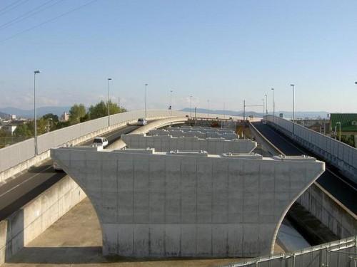 和歌山岬道路大谷高架橋南下部工事